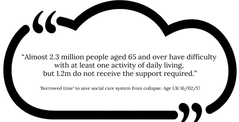 Quote on lack of elderly care