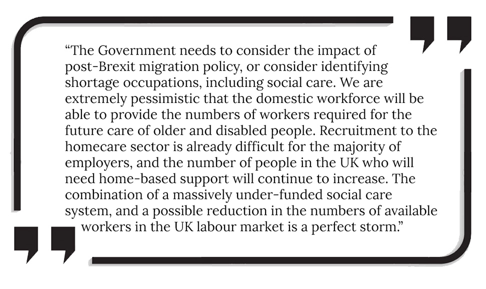 Issues with homecare recruitment