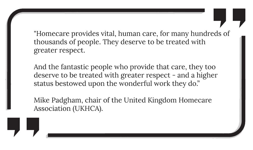 Raising the status of homecare workers