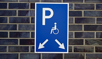 Updated blue badge disability scheme
